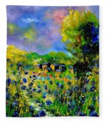 Flowered Village Fleece Blanket