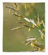 Flowering Brome Grass Fleece Blanket