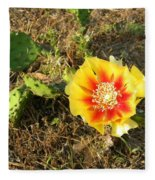 Flowering Cactus Fleece Blanket