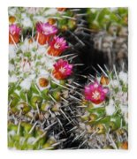 Flowering Cactus Fleece Blanket