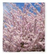 Flowering Cherry Tree Fleece Blanket