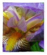 Flowering Iris Fleece Blanket