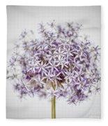 Flowering Onion Flower Fleece Blanket
