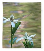 Flowering Pond Plant Fleece Blanket