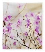 Flowering Rhododendron Fleece Blanket