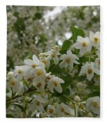 Flowering Tree Fleece Blanket