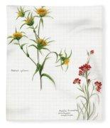 Flowers 1950 Fleece Blanket