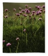 Flowers Above The Beach Fleece Blanket