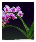 Flowers - Aerides Lawrenciae X Odorata Orchid Fleece Blanket