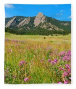 The Flatirons Colorado Fleece Blanket