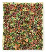 Flowers And Foliage  Fleece Blanket