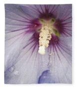 Flowers And Rain Fleece Blanket