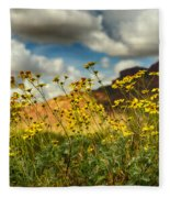 Flowers Are Food For The Soul  Fleece Blanket