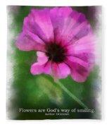 Flowers Are Gods Way 01 Fleece Blanket