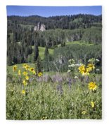 Flowers At Crested Butte Fleece Blanket
