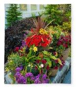 Flowers At Entrance Fleece Blanket