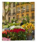 Flowers At Market Fleece Blanket