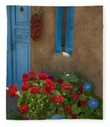 Flowers At Ranchos De Taos Fleece Blanket