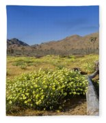 Flowers At The Headstone Fleece Blanket