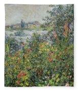 Flowers At Vetheuil Fleece Blanket