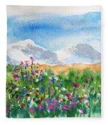 Flowers At Wolf Creek Fleece Blanket