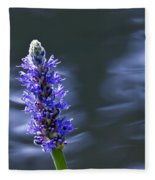 Flowers By The Water Fleece Blanket