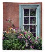 Flowers By The Window Fleece Blanket
