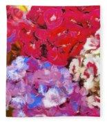 Flowers  Fleece Blanket