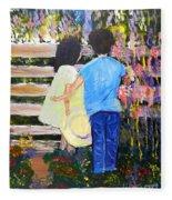 Flowers For Her Fleece Blanket