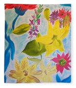 Flowers For Mom Fleece Blanket