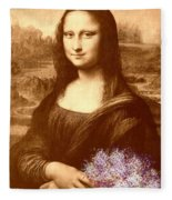 Flowers For Mona Lisa Fleece Blanket