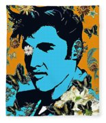 Flowers For The King Of Rock And Roll Fleece Blanket