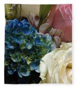 Flowers For Zoe Ellen Fleece Blanket