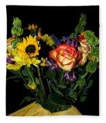 Flowers From The Heart Fleece Blanket