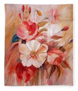 Flowers I Fleece Blanket
