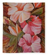 Flowers II Fleece Blanket