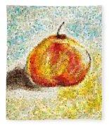 Flowers In A Mosaic Apple Fleece Blanket