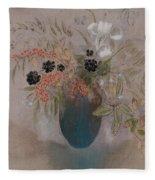 Flowers In A Vase Fleece Blanket