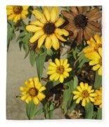Flowers In Fall 2 Fleece Blanket