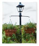 Flowers In Garden 4 Fleece Blanket