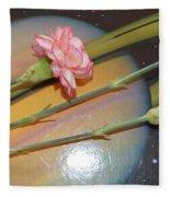 Flowers In Space Fleece Blanket