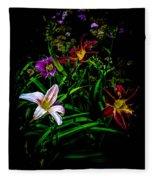 Flowers In The Garden Fleece Blanket