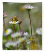 Flowers In The Hight Mountains. Fleece Blanket