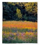 Flowers In The Meadow Fleece Blanket