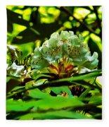 Flowers In The Woods Fleece Blanket