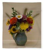 Flowers In Vase Fleece Blanket