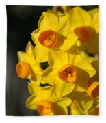 flowers-Jonquils-bright yellow Fleece Blanket