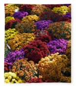 Flowers Near The Grand Palais Off Of Champ Elysees In Paris France   Fleece Blanket