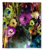 Flowers Night Party Fleece Blanket