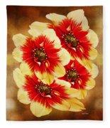 Flowers Of Flowers Fleece Blanket